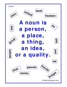 What is a Noun? Worksheet