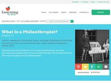 What is a Philanthropist? Lesson Plan