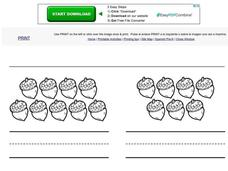 Autumn Acorns-Number Skills 6-10 Worksheet