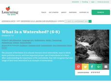 What Is a Watershed? Lesson Plan