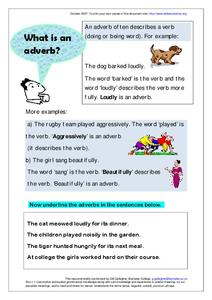 What is an Adverb? Worksheet