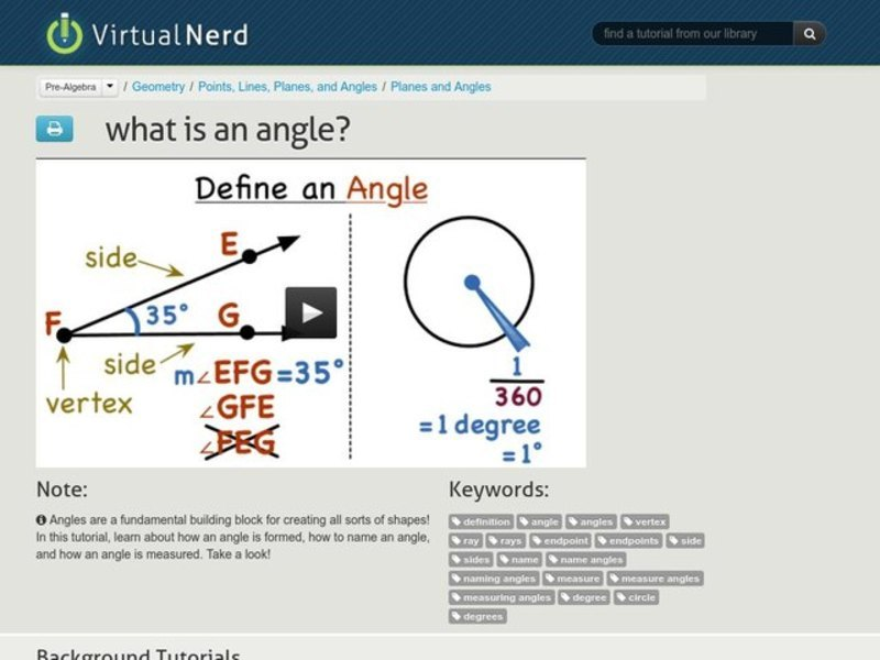 What is an Angle? Video