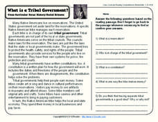 What is a Tribal Government? Worksheet
