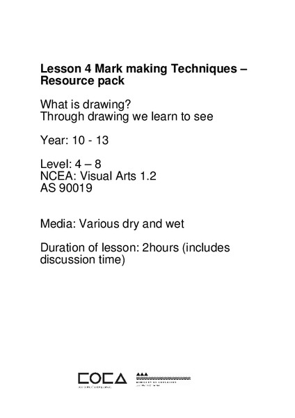 What is Drawing? Lesson Plan