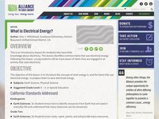 What is electrical energy? Lesson Plan