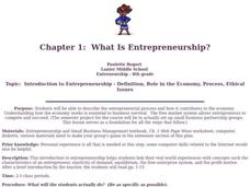What is Entrepreneurship? Lesson Plan