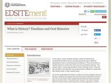 What is History? Timelines and Oral Histories Activities & Project