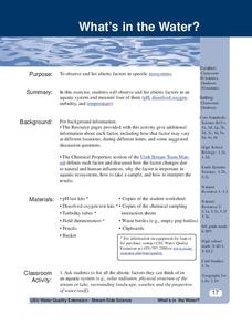What Is In The Water? Lesson Plan