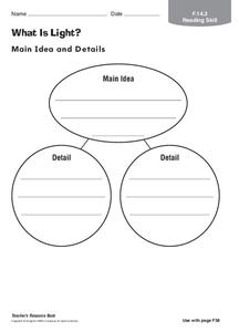What is Light? Worksheet
