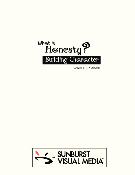 What Is Honesty? Lesson Plan