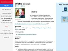 What Is Money? Lesson Plan