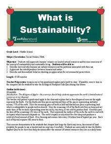 What Is Sustainability? Lesson Plan
