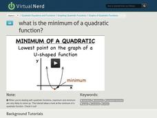 What is the Minimum of a Quadratic Function? Video