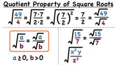 What is the Quotient Property of Square Roots? Video