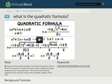 What is the Quadratic Formula? Video