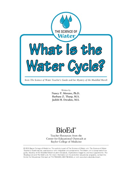 What Is the Water Cycle? Lesson Plan