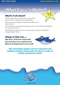 What Lives in Water? Lesson Plan
