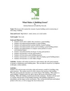 What Makes a Building Green? Lesson Plan