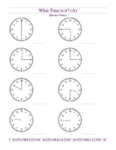 What Time Is It? (A) Worksheet