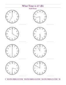 What Time is it? (B) Worksheet