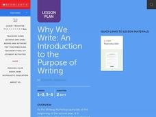What We Know About Writers Lesson Plan