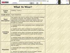 What To Wear? Lesson Plan