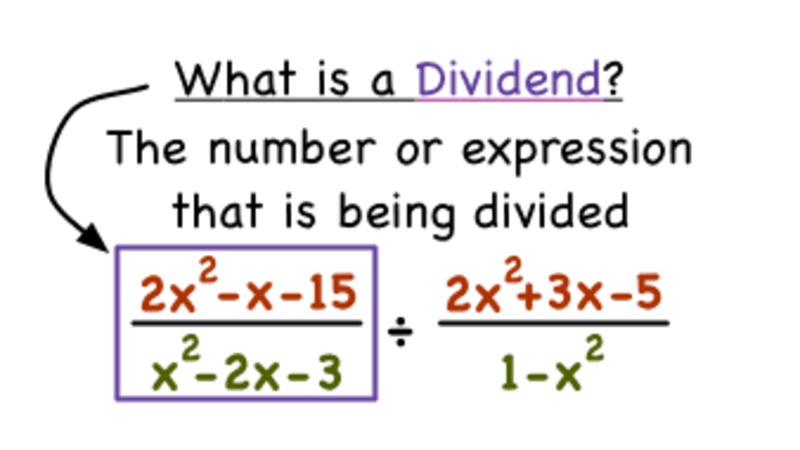 What's a Dividend in a Rational Expression? Video