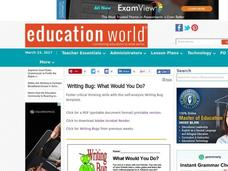 What Would You Do? Lesson Plan