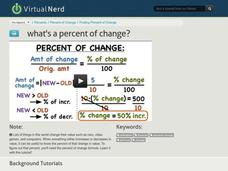 What's a Percent of Change? Video