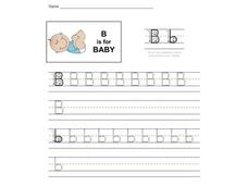 B is for Baby Worksheet