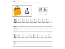 B is for Bag Worksheet