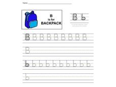 B is for Backpack Worksheet