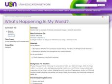 What's Happening in My World? Lesson Plan