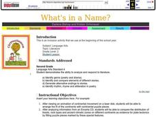 What's In A Name Lesson Plan
