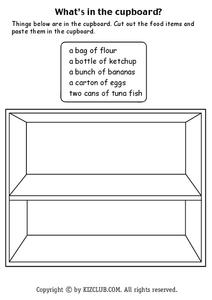 What's in the Cupboard? Worksheet