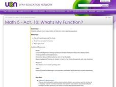 What's My Function? Lesson Plan
