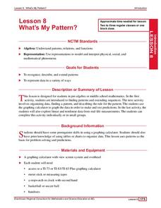 What's My Pattern? Lesson Plan