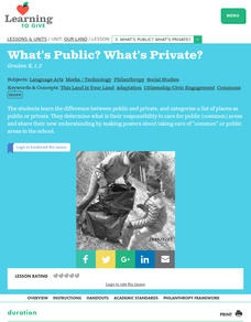 What's Public? What's Private? Lesson Plan