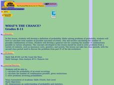 What's the Chance? Lesson Plan