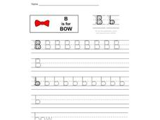 B is for Bow: Letter Bb Worksheet