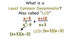 What's the Least Common Denominator? Video
