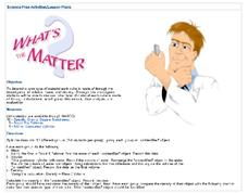 What's the Matter? Lesson Plan