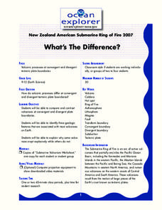 What's The Difference? Lesson Plan