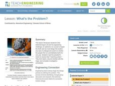 What's the Problem? Lesson Plan
