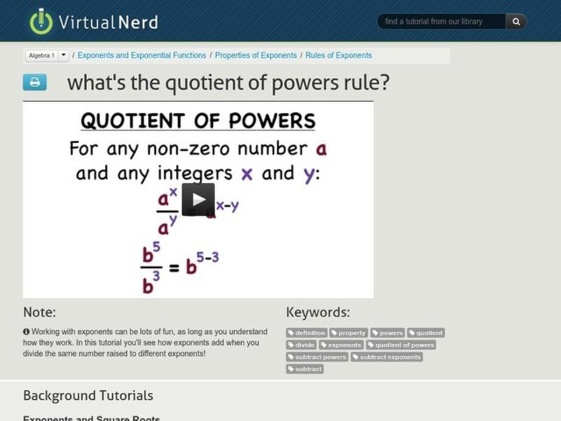 What's the Quotient of Powers Rule? Video