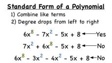 What's the Standard Form of a Polynomial? Video