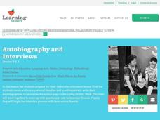 Autobiography and Interviews Lesson Plan
