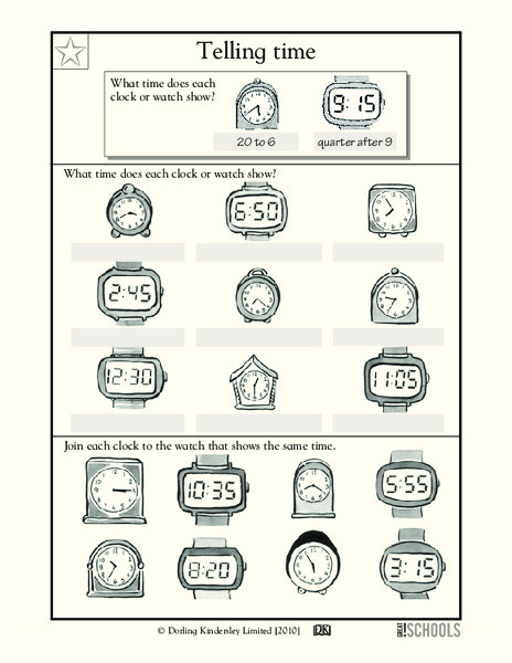 What's the Time? Worksheet