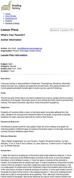 What's Your Favorite? Lesson Plan