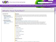 What's Your Function? Lesson Plan